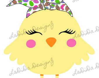 Easter Chick Eggs Hair Tie Cow Sublimation Transfer Pink Blue Purple Green Bandana