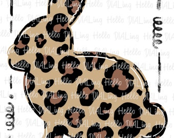 Leopard Bunny in Frame VINYL TRANSFER HTV Mask Iron Rabbit Easter