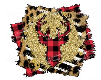 Buffalo Plaid Deer Glitter Stripes Cheetah Distressed Frame VINYL Transfers   with TTD MaskHTV HTV  Iron On