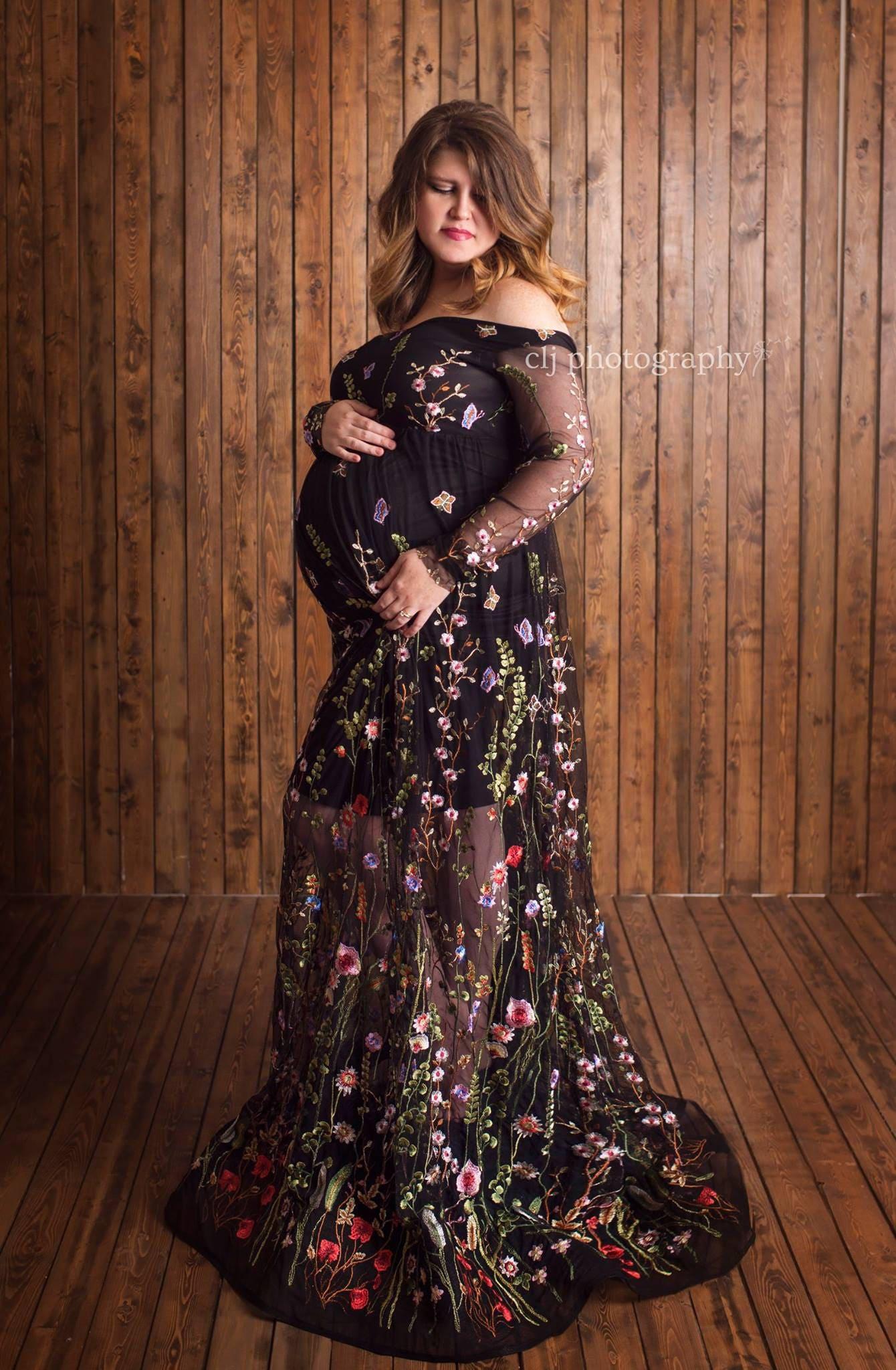 The Renata Maternity Gown Pregnancy Dress | Etsy