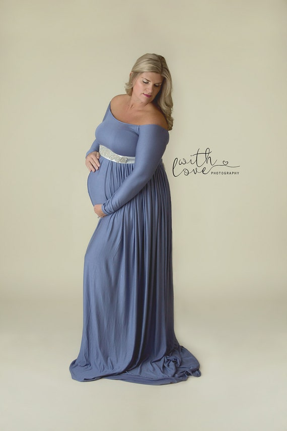 065c7157b8ed Off the Shoulder Maternity Dress Maternity Bridesmaid Dress | Etsy