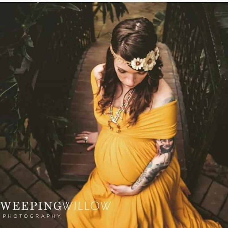 532f4406f82fe Bohemian Gown Yellow Maxi Dress Infinity Dress | Etsy