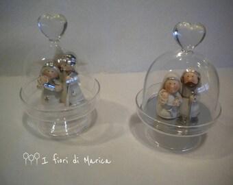 Mini Nativity blown glass backsplash