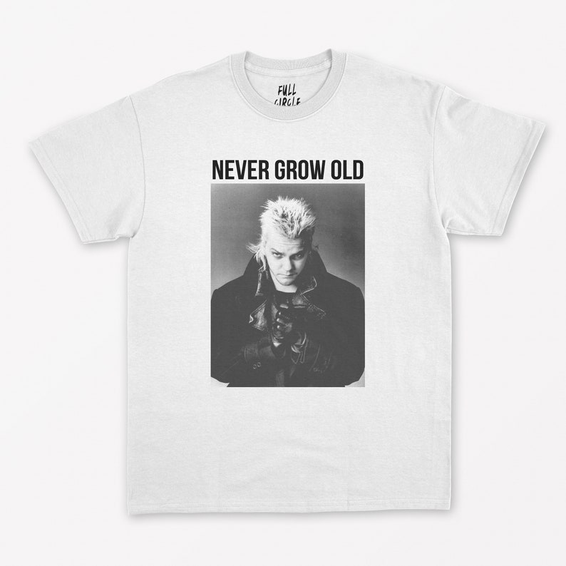 The Lost Boys Never Grow Old Adults T-shirt, XS to 3XL