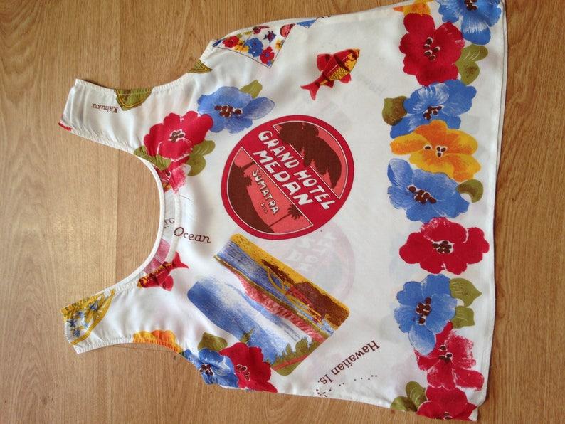 DUBIS vintage 1980/'s colourful vest top