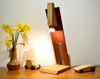 AMARO Lamp in Larch and Sipo