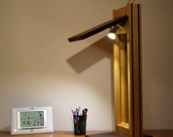 Desk lamp, woodmassive, high end