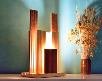 YABATO Lamp in Pine and polished Sipo