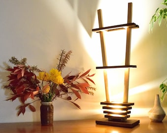 LARIXA: natural OAK and Beech lamp