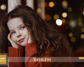 60 Bokeh Overlays, Light Spots Overlays, Light photo overlays, Sunlight overlays, Gold