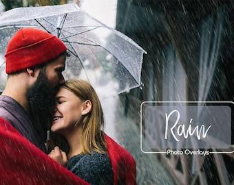 20 Rain Photo Overlays, Realistic rain, PNG files, Rain Textures, Rainy Weather, Raindrop, Autumn, Photography Overlay, Photoshop overlay