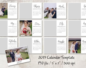 personalized photo calendar template