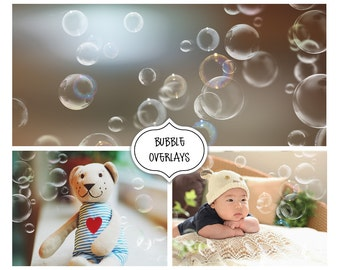 Bubbles Photoshop Overlays, Photo editing, Realistic Soap Bubble Photo Effect, Instant Download, Christmas, Photo effect, Christmas Holiday