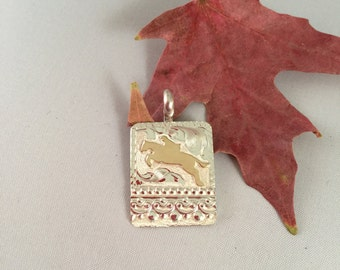 Jumping Horse pendent/ English Horse/sterling silver/ Artisan Handmade/ Equestrian Jewelry/ Horse Jewelry