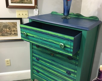 A Dresser For You in Vibrate Green and Blue