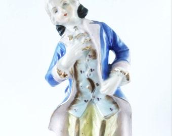 Large Occupied Japan Victorian Male Figurine Porcelain 1940
