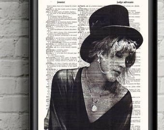 Stevie Nicks- Rock Goddess - Witchy Stevie Print- Bohemian Decor- Dictionary Print  Music Gift- Birthday Gift- Stevie Nicks Decor