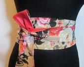 Obi Belts for Women 033 , Waist Woman Belt Wide , reversible Japanese Belts , Faux Leather Women 39 s Corset Belt , Red Denim Casual Belt