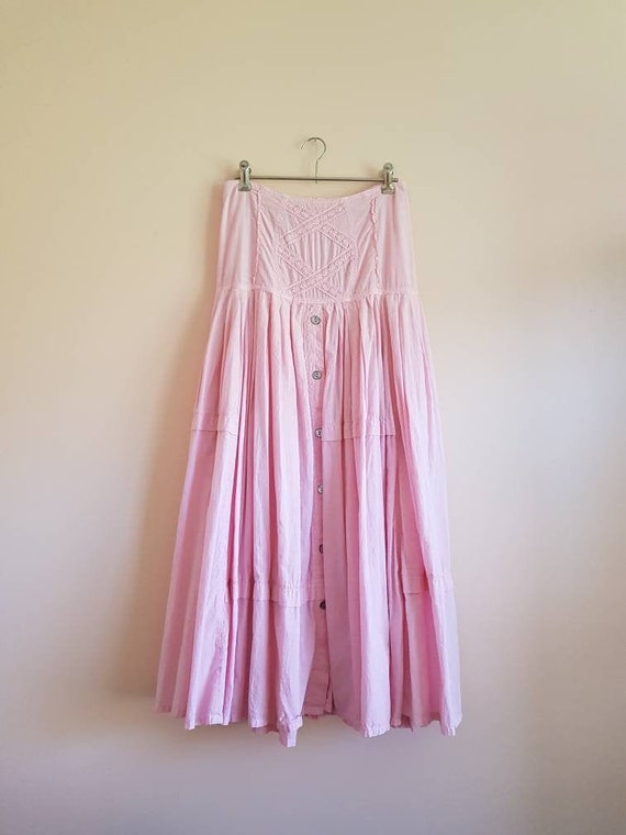 Vintage 50s Powder Pink Full Skirt