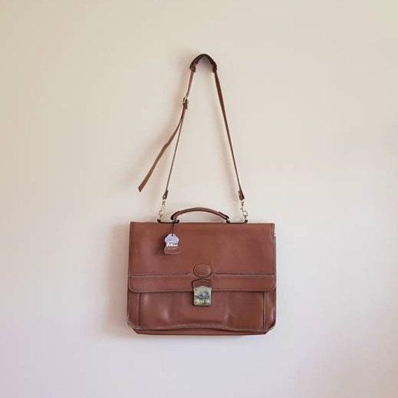 Vintage Genuine Leather Lockable Futura Satchel Wi