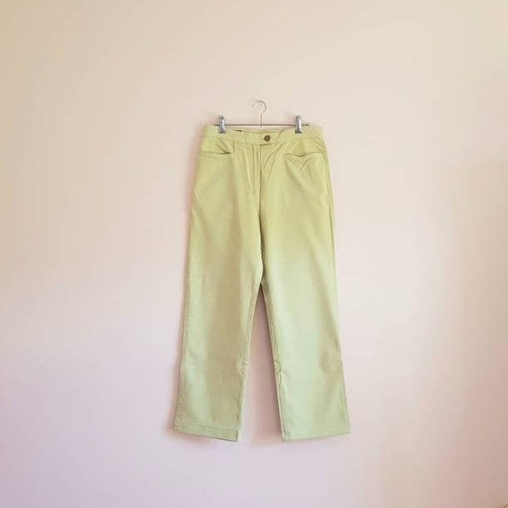 Vintage Laurel Jeans Yellow Lime Green Jeans