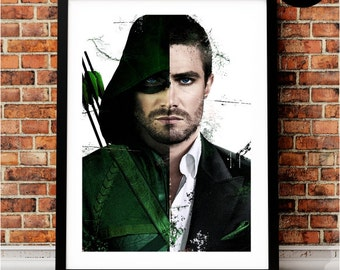 Arrow Oliver Queen Art Print, DC Inspired, Green Arrow Quote, Justice League, Arrow CW, stephen amell, TV Series, You have failed this city