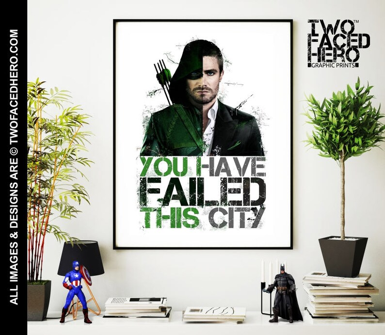 Marvel Arrow Stephen Amell Poster Wall Art Print Card or Canvas