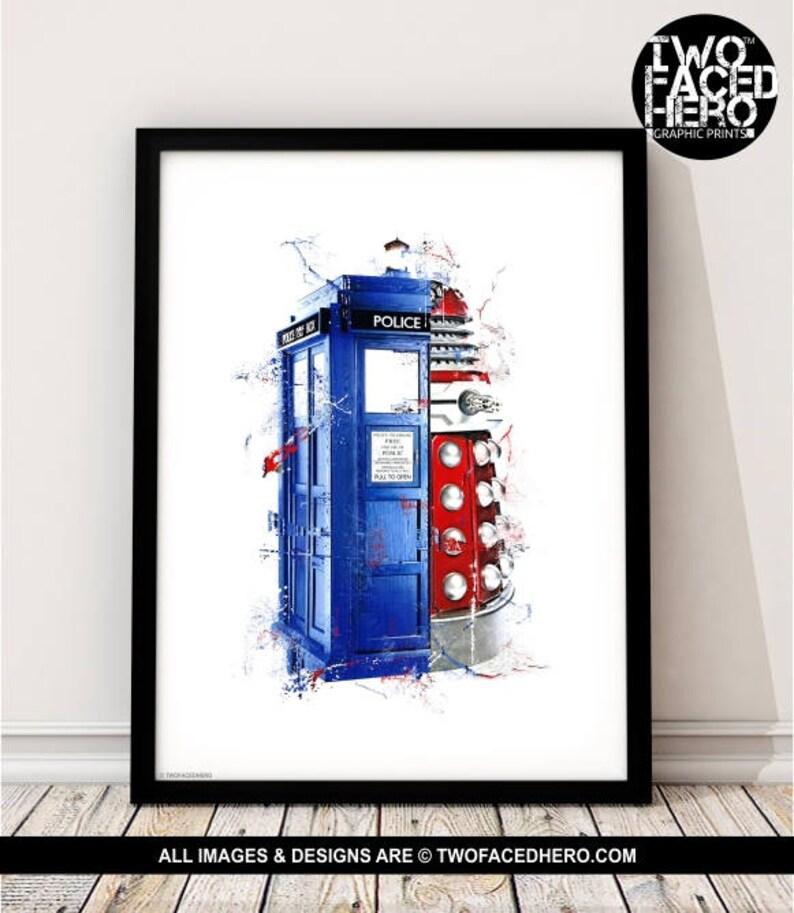 bee4edd06d5 Tardis Dalek Art Print Doctor Who Inspired The Doctor Matt