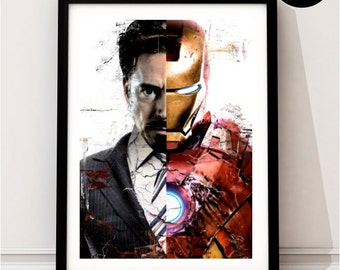 Iron Man Art Print, Superhero Inspired, Poster, Avengers Art, Captain America Civil War, Tony Stark Print, Ironman