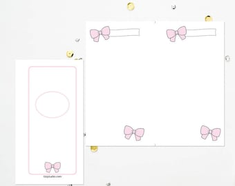 PERSONAL TN Pink Bow Blank