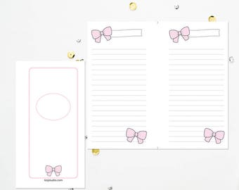 PERSONAL TN Pink Bow Lined