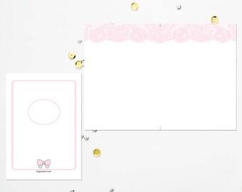 B6 TN Pink Lace Blank