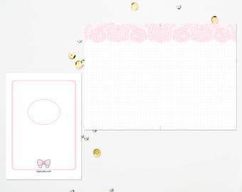 B6 TN Pink Lace Dot Grid