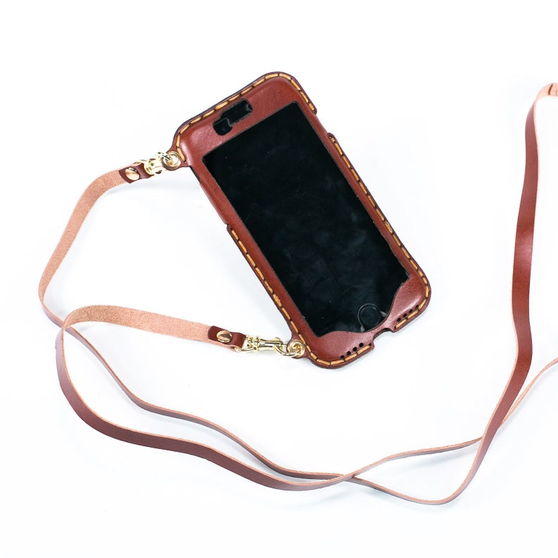 quality design 9e335 54ca4 iPhone 10 lanyard crossbody neck strap long crossbody strap wallet phone  purse bandolier style leather iPhone 10 case iPhone X style 01LS
