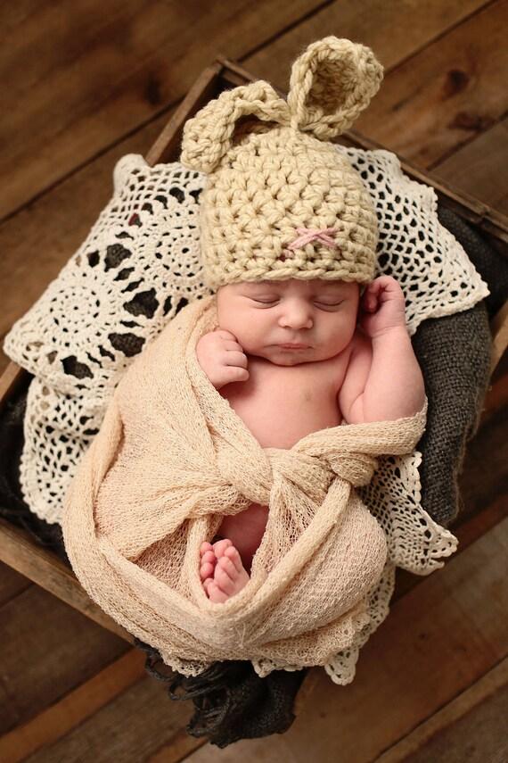 Baby Easter Bunny Hat Newborn Chunky Hat Crochet Infant Hat