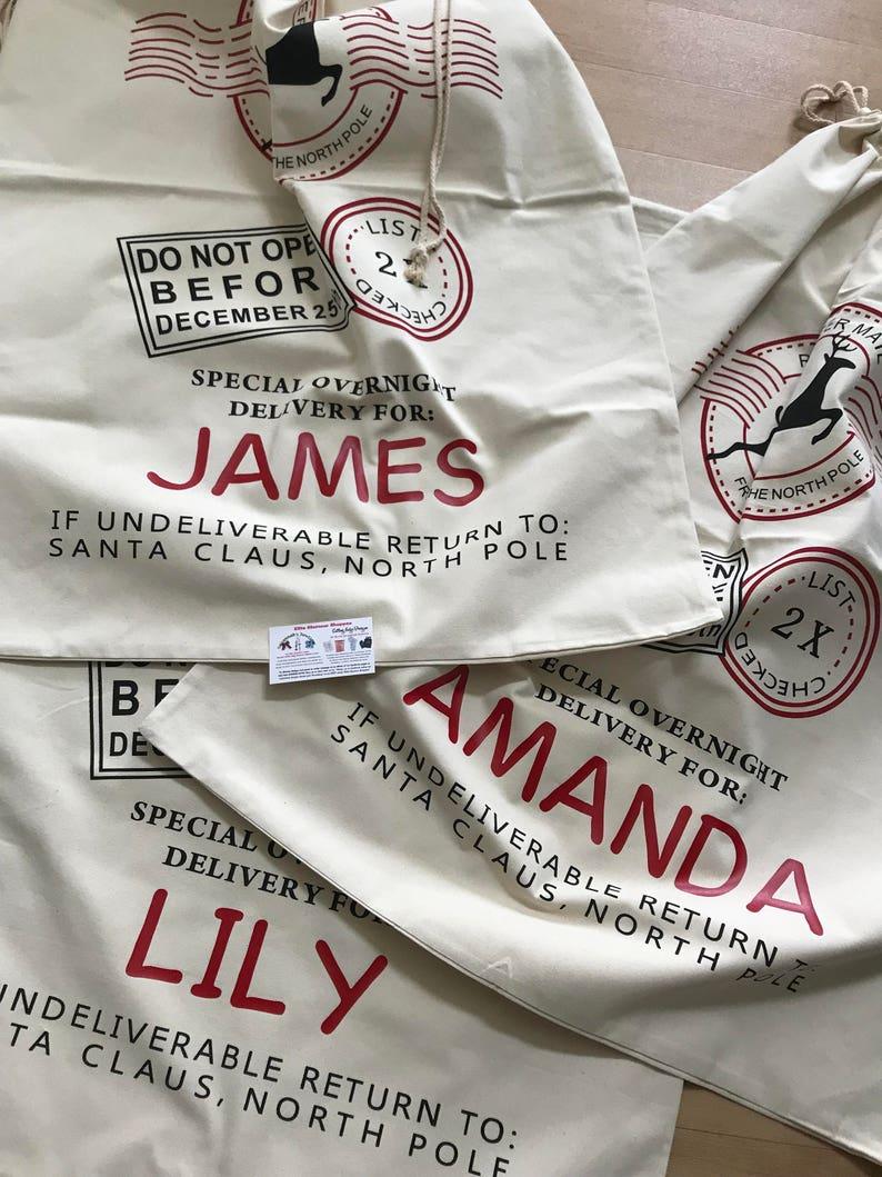 personalized santa sack Santa sack Large santa sack Custom santa sack