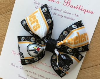 Pittsburgh Steelers bow, Pittsburgh steelers headband