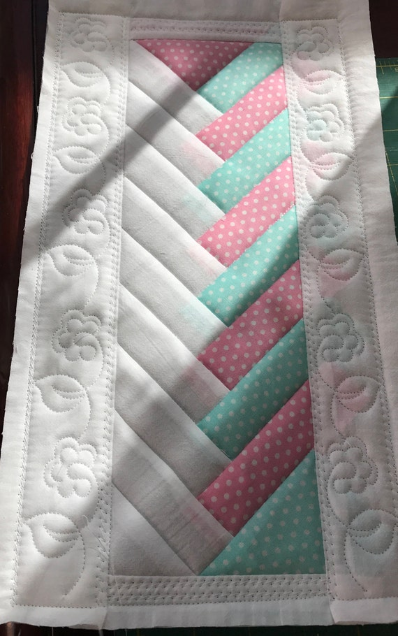 In The Hoop French Braid Embroidery Quilt Block 3 Diff