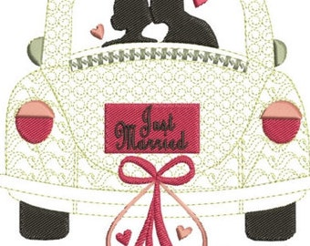 """Just married machine embroidery download 3 different sizes (4X5""""  5X7 """"  7X8"""" hoop)"""