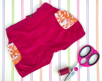 Girls pink shorts, bubble shorts, corduroy shorts, girls winter shorts, girls shorts, party shorts, Christmas shorts, Christmas gift