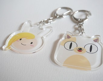 Adventure Time Fionna & Cake the cat acrylic charms