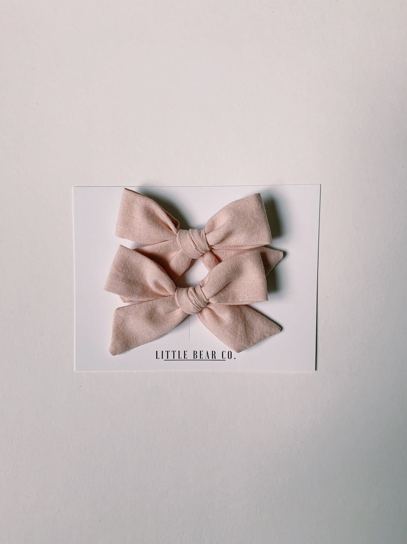 Schoolgirl Bow Clip Set  Set of 2 Schoolgirl bows  Toddler Bows  Schoolgirl bow clips