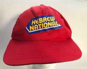 Vintage Hebrew National Hot Dog Snapback Hat 3cce3b9cd9e2