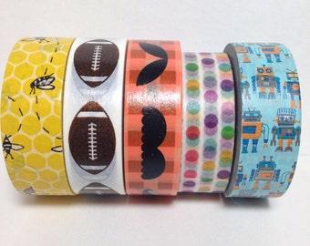 VINTAGE CHILDRENS ROBOT /& Toys Washi Tape ~ 1 Roll ~ 15mm x 10m 33 Feet