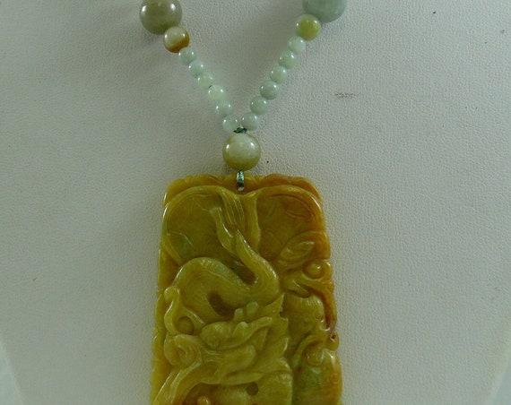 Jade Multi-Color Necklace with Jade Pendant