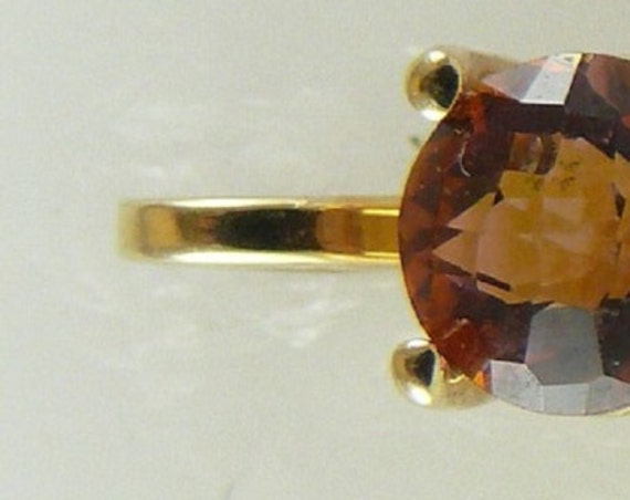 Rainbow Pink Topaz 3.0ct 14k Yellow Gold Pendant