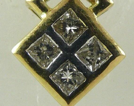 Diamond Pendant 0.20ct 14k Yellow Gold