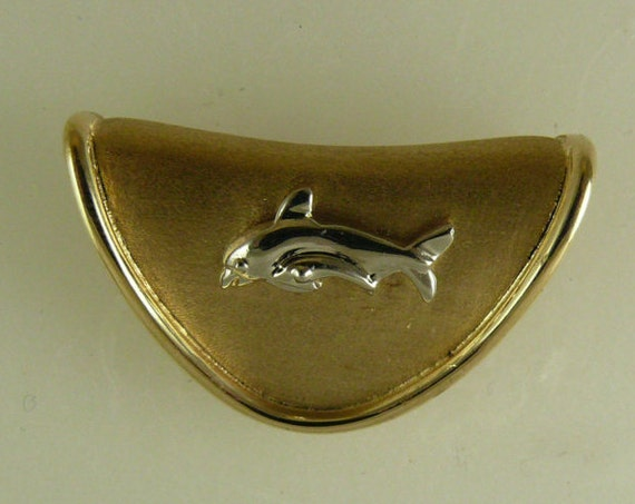 Dolphin 14k Yellow Gold Slide