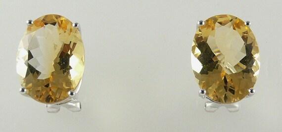 Citrine 15.65ct Earring 18k White Gold