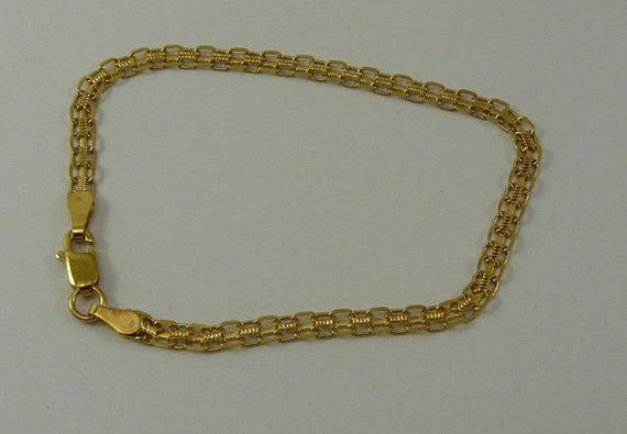 14k Yellow Gold Bracelet 7 Inches Long